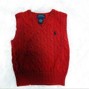 Polo Ralph Lauren boy cable knit sweater vest